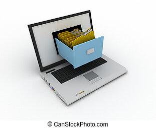 datos, computador portatil, almacenamiento