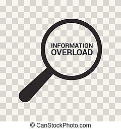 datos, concept:, aumentar, óptico, vidrio, con, palabras, sobrecarga de la información