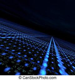 datos, cuadrícula, matriz
