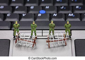datos de la computadora, seguridad, concepto