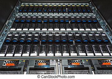 datos el almacenamiento, centro, sistema