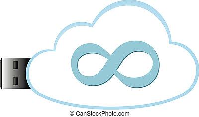 datos el almacenamiento, nube