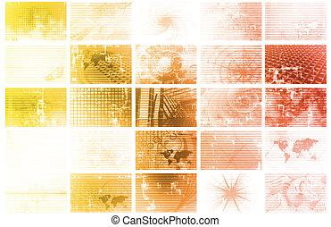 datos, energía, cuadrícula, red, futurista