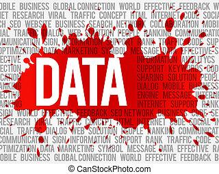 datos, palabra, nube