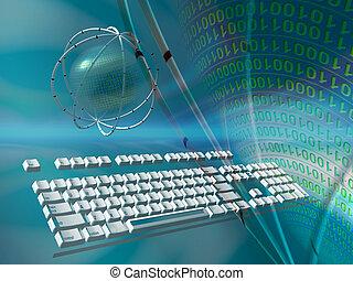 datos, servidores, internet