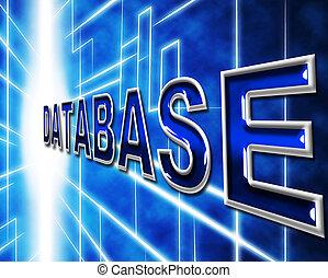 datos, tecnología, representa, dataflow, base de datos, y,...
