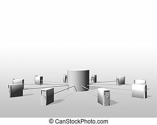 datos, vitual, servidores, realidad