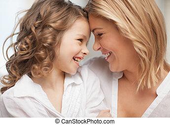 datter, mor