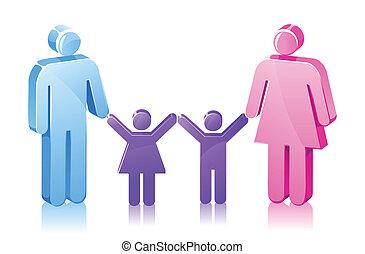 datter, pind, familie, søn