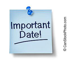datum, merkzettel, wichtig, buero