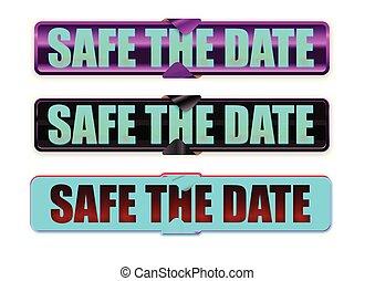 Datum, Retten, Geschenkband - datum, retten, geschenkband,...