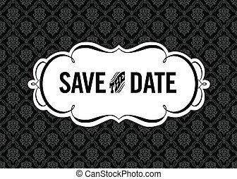 datum, sparen, frame, vector, sierlijk