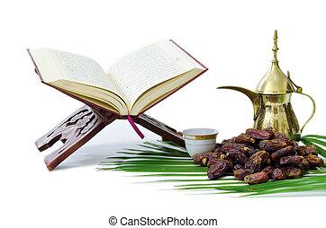 daty, święty, quran, garnek, kawa, thge, owoc, arabszczyzna