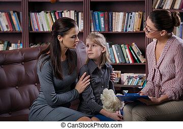 daugher, consultation, maman