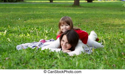 daughter with her mother