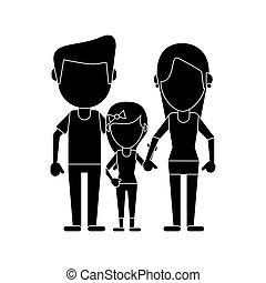 daugther, 親, 家族, pictogram