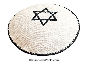 david, bestickt, traditionelle , headwear, jüdischer stern