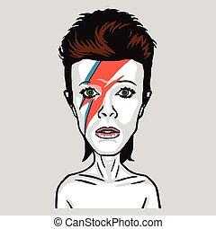 David Bowie Pop Art Vector Portrait Illustration