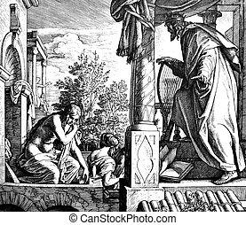 David Covets Bathsheba 1) Sacred-biblical history of the old...