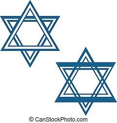 david, estrela, estrela judia, vetorial, símbolo, desenho
