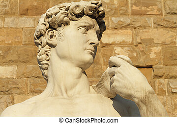 David from Florence - famous statue of David by...