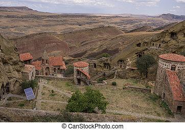 David Gareja, a rock-hewn Georgian Orthodox monastery...