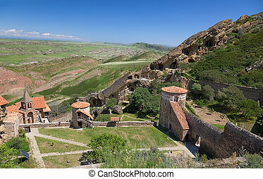 David Gareja monastery. Kak - View from top to David Gareja...