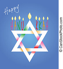 david, hanukkah, menorah, estrella