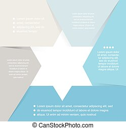 David Star design template and infographics, abstract background