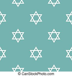 David star pattern seamless blue. Simple illustration of...