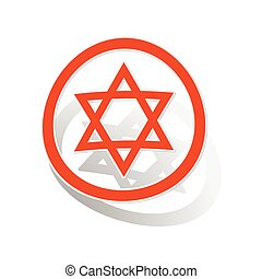 David Star sign sticker, orange