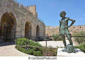 david, tour, israël, -, jérusalem, citadelle