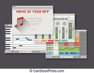 DAW, music production software (digital audio workstation)....