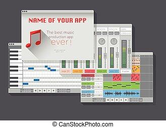 DAW, music production software (digital audio workstation). ...