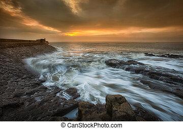 Dawn at Porthcawl