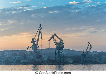 Dawn at the port