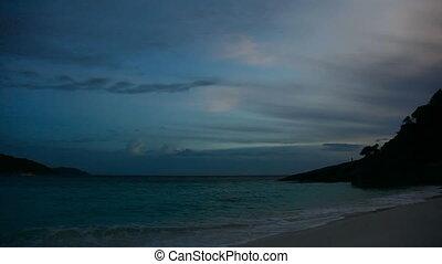 Dawn. - Dawn on a Similan Islands, Thailand. Timelapse.