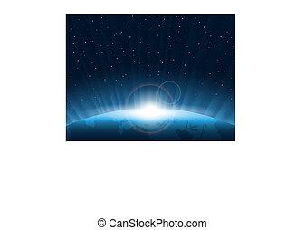Dawn. Vector illustration.