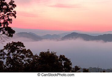 Dawn-Great Smokies - Dawn at Foothills Parkway, Great Smokey...