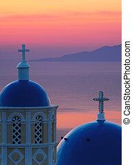 Dawn in Santorini