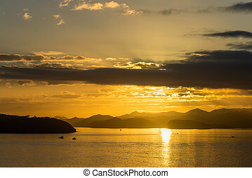 Dawn in the Bay of Islands, New Zealand
