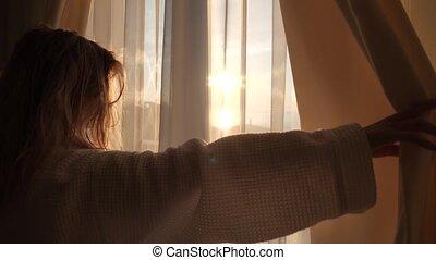 dawn in the window