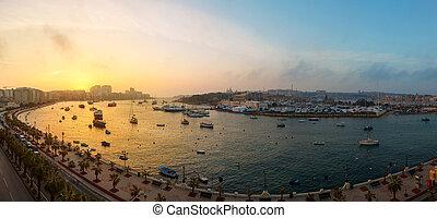 Dawn Manoel Island Marsamxett Harbour