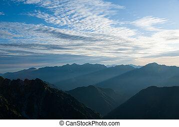 Dawn of the North Alps