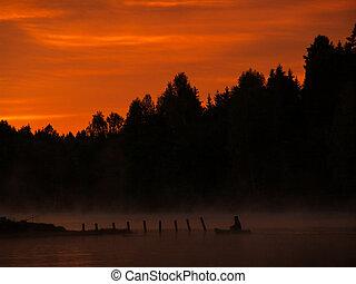 Dawn over the lake