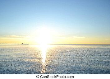 Dawn over the Lake Ladoga