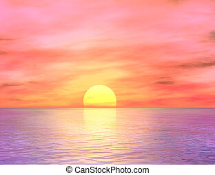 Dawn over the ocean