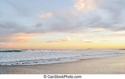 Dawn - Seascape at dawn on the beach in cape town