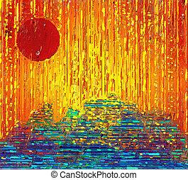 Dawn - Red sun dawn