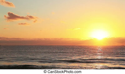 Dawn - Beautiful dawn on the Caribbean coast